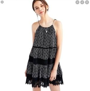 Urban Outfitters Kimichi Blue Lace Tassel Dress